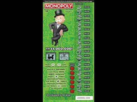 $10 Monopoly NEW #1 Win up to $1,000,000! CALottery Ticket Scratchers