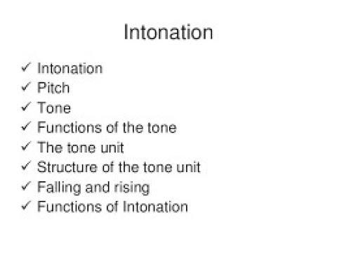 Intonation (rising and falling tone)