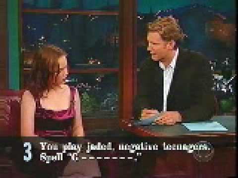 Kilborn's 5 Questions 2001.07.18 Thora Birch