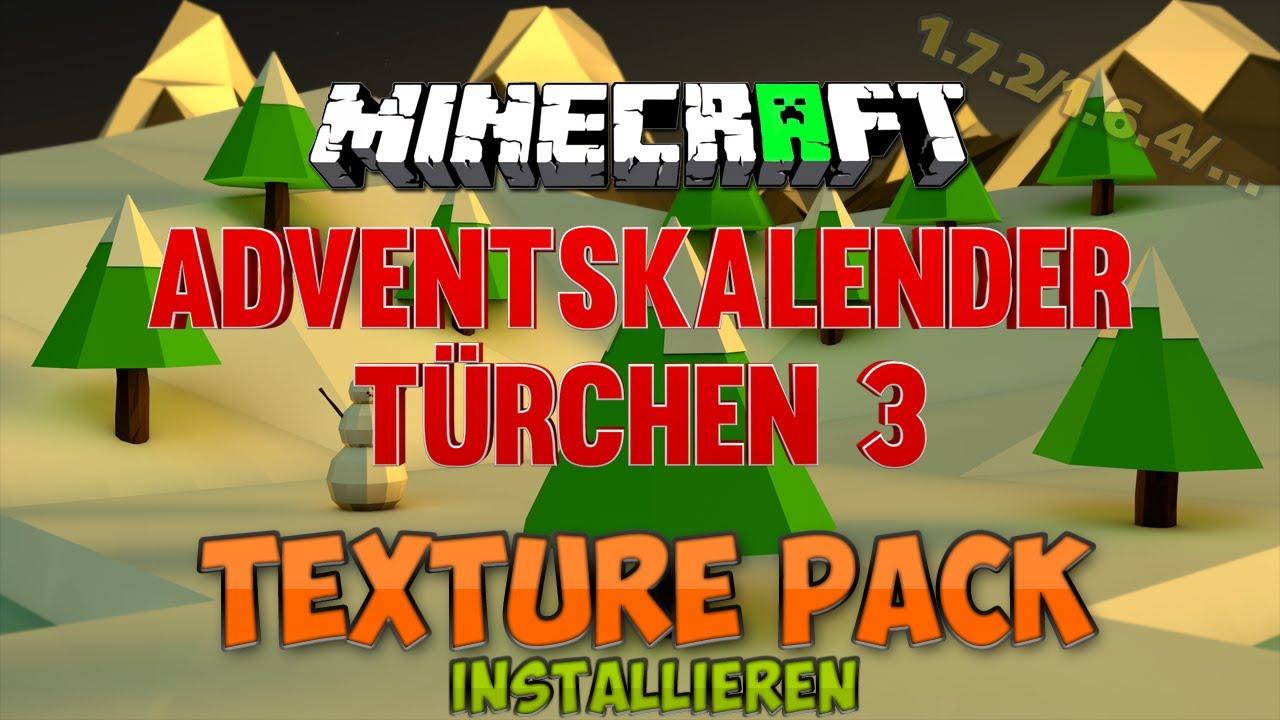 Minecraft 1.8 Texture Packs (Recource Packs)   Installation   [German   Adventskalendertürchen 3 ...