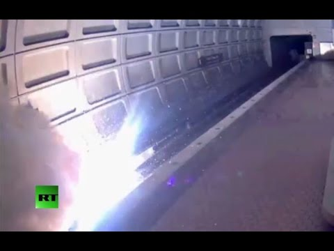 Great balls of fire: DC Metro explosion moments after train leaves