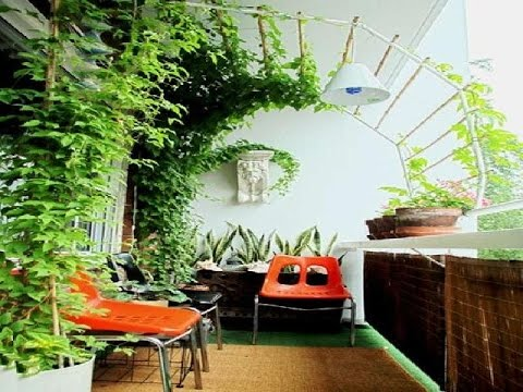 simple terrace garden decoration for minimalist home