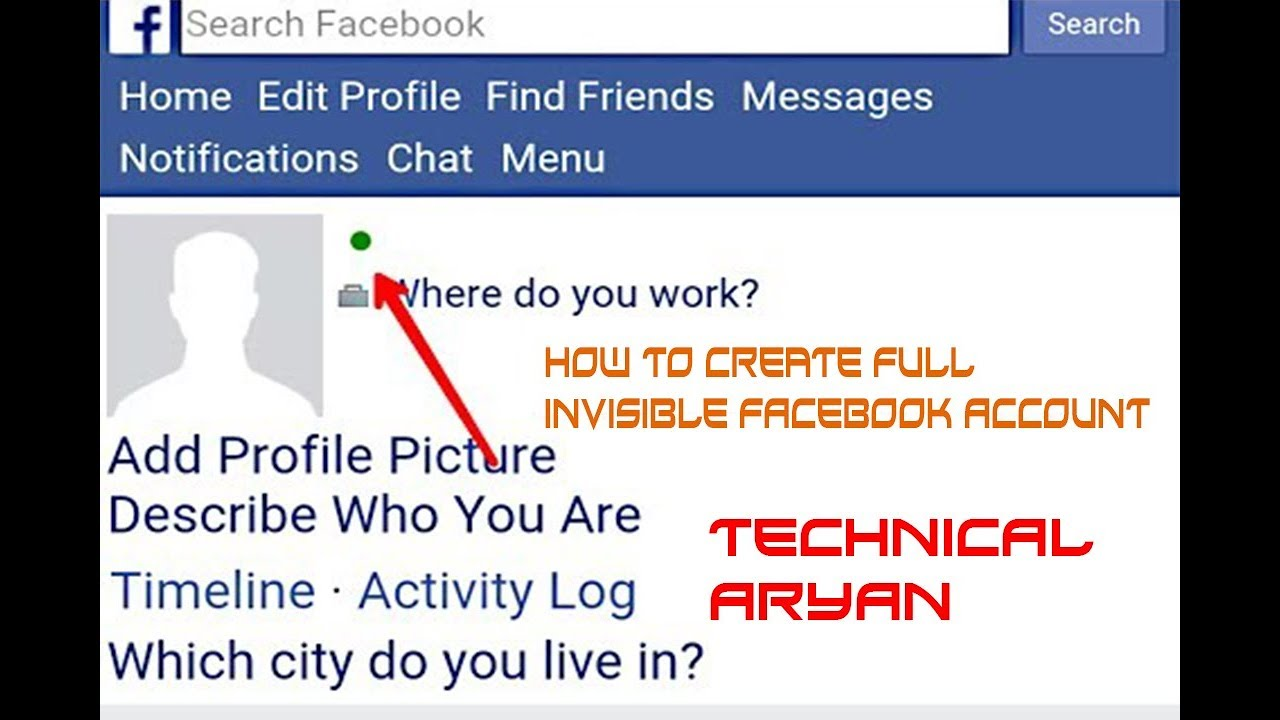 How To Make Invisible Blank Empty Name Id On Facebook | Technical AryaN