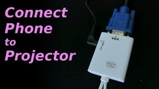 MHL to VGA Converter(Connecting mobile phone to projector using MHL to VGA adapter. MHL to HDMI https://www.youtube.com/watch?v=vt6iIQukDRk HDMI to VGA ..., 2013-08-21T12:31:22.000Z)