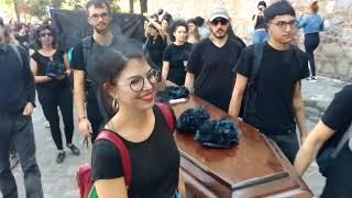 Protesta de científicos del Conicet en Córdoba contra los recortes