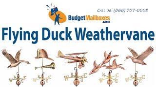 Budgetmailboxes.com | Good Directions 9613p Flying Duck Weathervane - Polished Copper