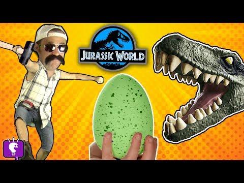 HobbyGrit SMASHES Dino Surprises! CUTTING Open Dino Eggs with HobbyKidsTV