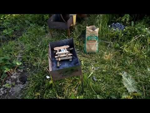 Как быстро и равномерно разжечь угли в мангале без розжига, бумаги и горелки