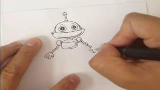 Уроки рисования, Как нарисовать робота, Drawing lessons, How to draw a robot