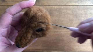 羊毛フェルトを使って作るミニチュアダックスの作り方です.