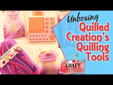 Unboxing Quilled Creation's Quilling Tools