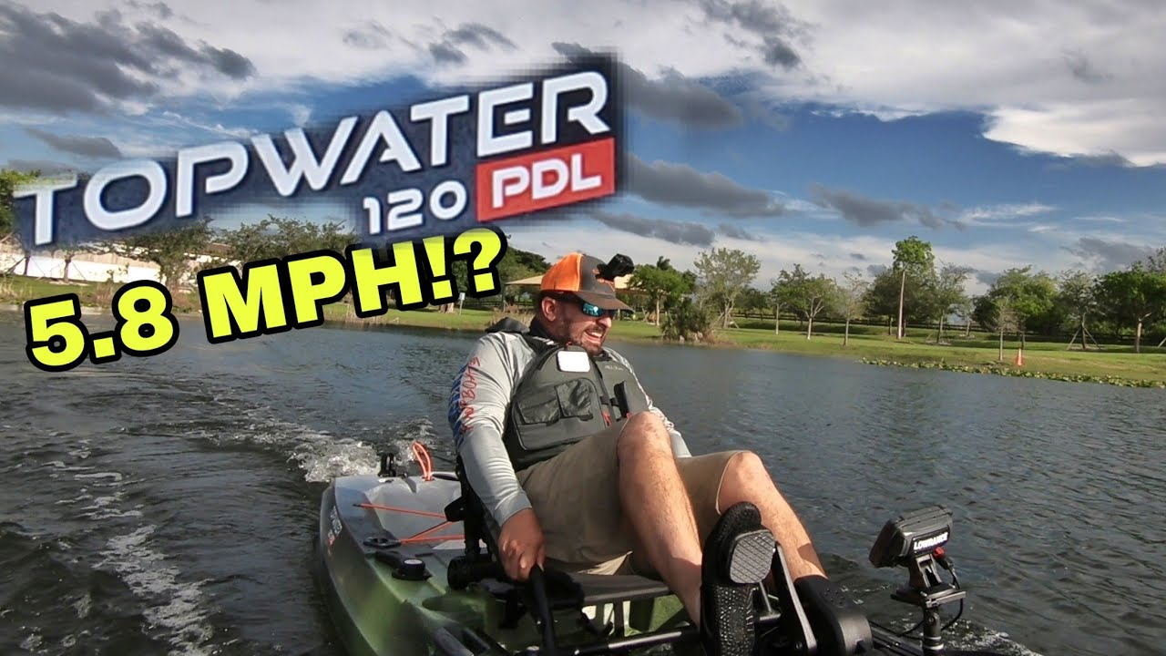 boat EXPERT first time on pedal drive fishing kayak Old Town Topwater 120  PDL is it Good?