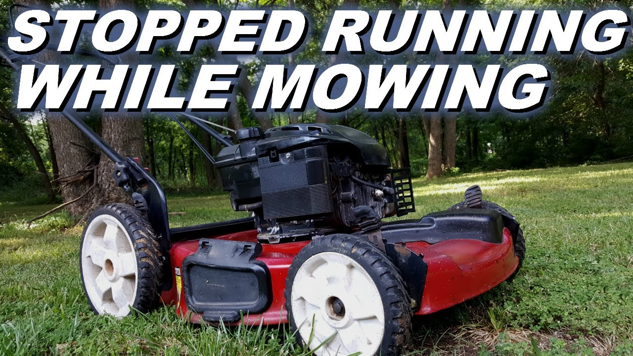 Toro Lawnmower Stopped Working While Running Starts And Something Hard Mowing