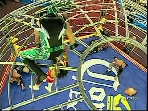 AAA - 13-man domed cage match, 2009/03/20 [AAA Cruiserweight tournament]