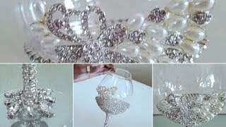 GLAMOROUS OVERSIZED WINE GLASS | QUICK AND EASY DIY | HIGH-END LUXURIOUS DECOR 2019