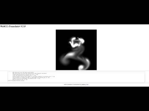 OpenCL to WebCL with Emscripten (fluid demo)