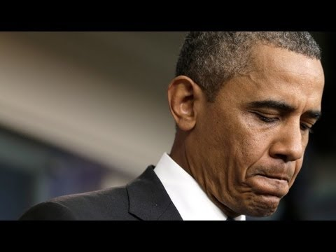 Obama gives surprise remarks on race
