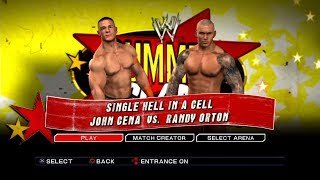 WWE SmackDown VS Raw 2011 PS3 Gameplay - John Cena VS Randy Orton Hell in a Cell [60FPS][FullHD]