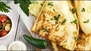 Домашняя КЕСАДИЛЬЯ С КУРИЦЕЙ (острые закуски) и КЕСАДИЛЬЯ С ГРИБАМИ - блюда мексиканской кухни