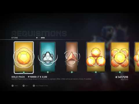 ShowTimeLC//Halo 5 - Gold pack opening 300 000 req points