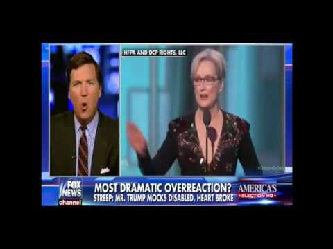 Tucker Carlson DESTROYS  Meryl Streep For Pretending To Be An Outsider [01/09/2017]