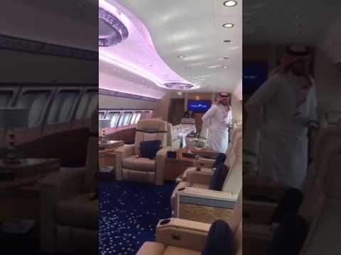 Luxurious private plane of abu dhabi prince