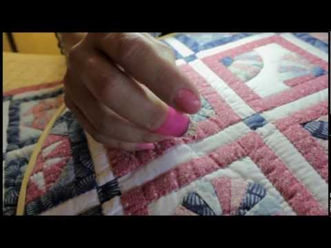 hand quilting for beginners, the rocking motion & knot