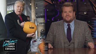 Trump Can't Even Sign a Pumpkin Correctly