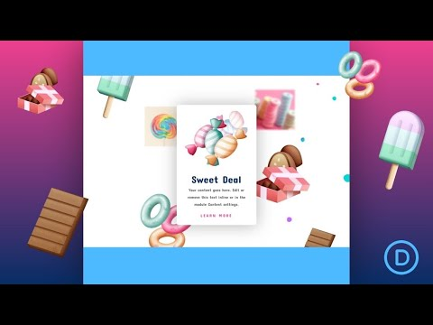 How to Float Elements within a Section to Create a Dynamic Scrolling Effect in Divi