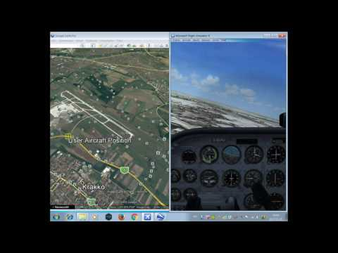 Flight Simulator X(FSX) Google Earthrealtime FSXGET tutorial 2017 Update HD  video