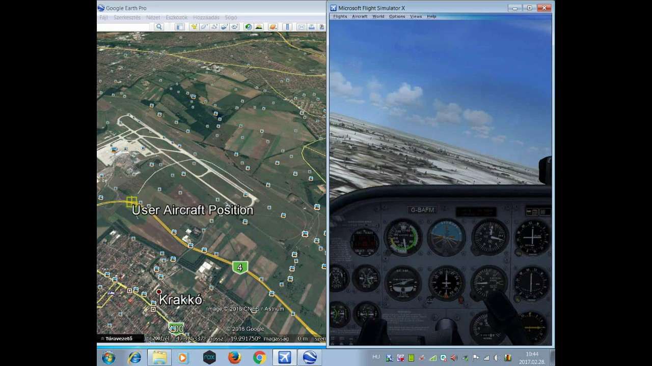 Flight Simulator X Fsx Google Earthrealtime Fsxget Tutorial 2017