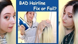 BAD Hairline FIX or FAIL? Funny Synthetic Wig Unboxing  / Donalove Hair