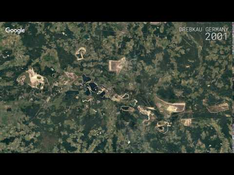 Google Timelapse: Drebkau, Germany