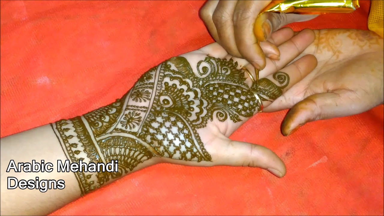 Royal Peacock Mehndi Design