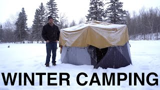 Winter Camping For The Local News