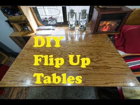 DIY Flip Up Folding Tables - Cargo Trailer Conversion