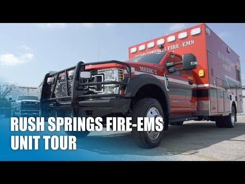 Frazer Unit Tour With Rush Springs Fire-EMS
