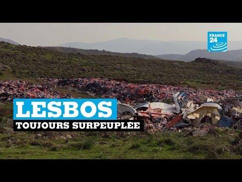 """L'île de Lesbos toujours surpeuplée, se sent """"oubliée"""""""