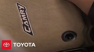 Camry How-To: Floor Mats Installation | 2014.5 Camry | Toyota