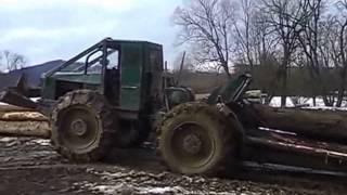 Zrywka w Bieszczadch Tree farmer C5D (Nie LKT, Timberjack)