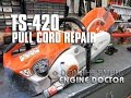 Pull Cord Repair On Stihl TS-420 Cut Off Saw
