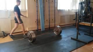 Тяга 190 кг x 10, собственный вес 74 кг, 18 лет