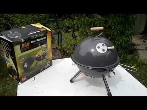 kugelgrill test aldi bbq minikugelgrill 12 2015 youtube. Black Bedroom Furniture Sets. Home Design Ideas