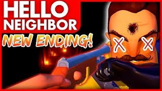 SHOOT THE NEIGHBOR ENDING! - Hello Neighbor (Trying To Kill The Neighbour!)