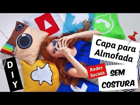 DIY: Capa para Almofada SEM COSTURA das Redes Sociais | Vânia Maciel