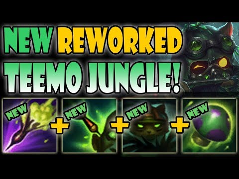 *NEW REWORKED* Teemo JUNGLE!! - WTF NEW TEEMO JG Is CRAZY! NEW SEASON 9 PBE Gameplay
