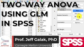 Two Way Anova In SPSS (SPSS Tutorial Video #20) - GLM