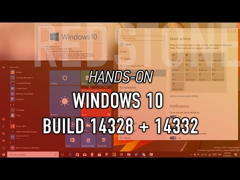 Windows 10 build 14328 + 14332: Hands-on with new Start, Action Center, Windows Ink + everything