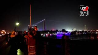 «برج القاهرة» و«الألعاب النارية» يضيئان كورنيش القاهرة
