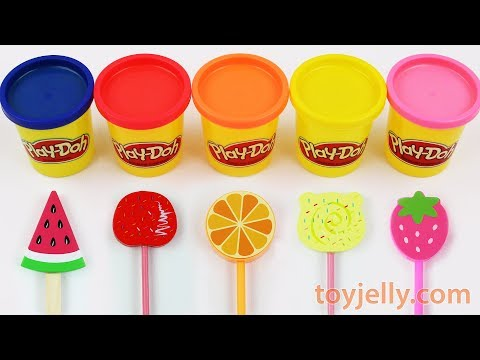 Toy Ice Cream Play Doh Popsicles Learn Colors & Fruits HATCHIMALS Kinder Surprise Eggs For Kids